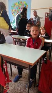 Primo giorno di scuola per Leo