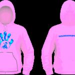 Felpa Cappuccio Kids - Flower Blue-Pink