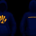 Felpa Cappuccio Unisex - Orange-Blue Navy