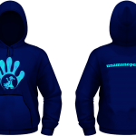Felpa Cappuccio Unisex - Pixel Blue-Navy