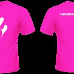 T-Shirt - Girls - White-Fucsia