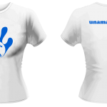 T-Shirt - Lady - Royal Blue-White