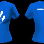 T-Shirt - Lady - White-Royal Blue